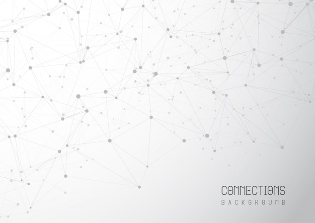 Abstract connections background Free Vector