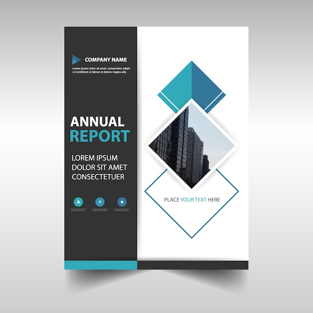 abstract corporate annual report template vector free download