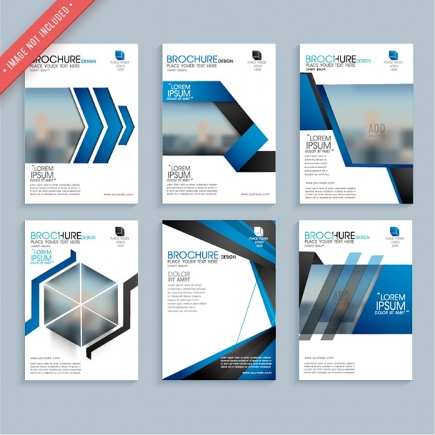 Abstract Corporate Brochure Template Vector | Premium Download
