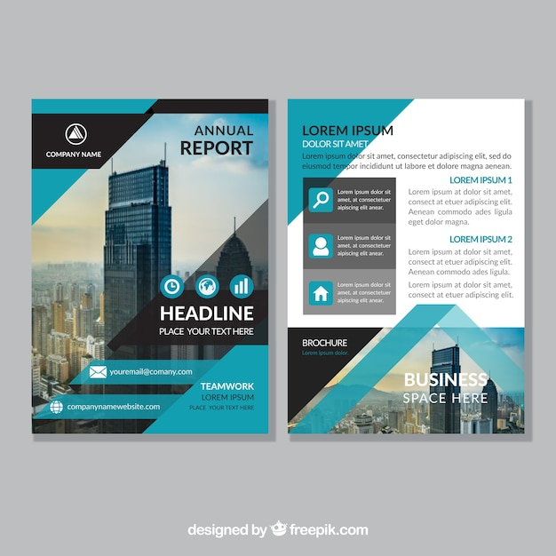 Abstract Corporate Brochure Template Vector | Free Download