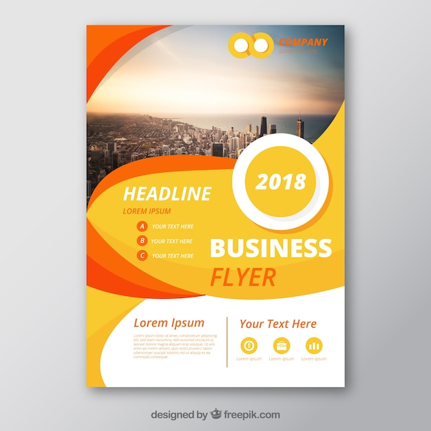 Abstract corporate brochure Free Vector