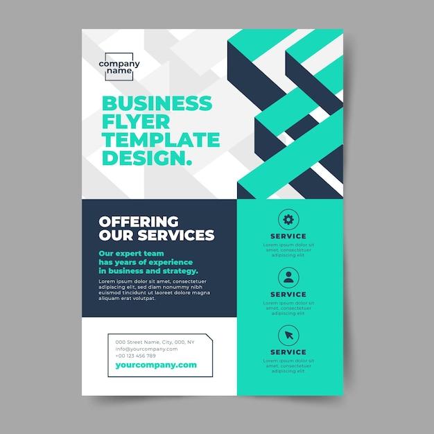 抽象的な企業のビジネスチラシ 無料ベクター
