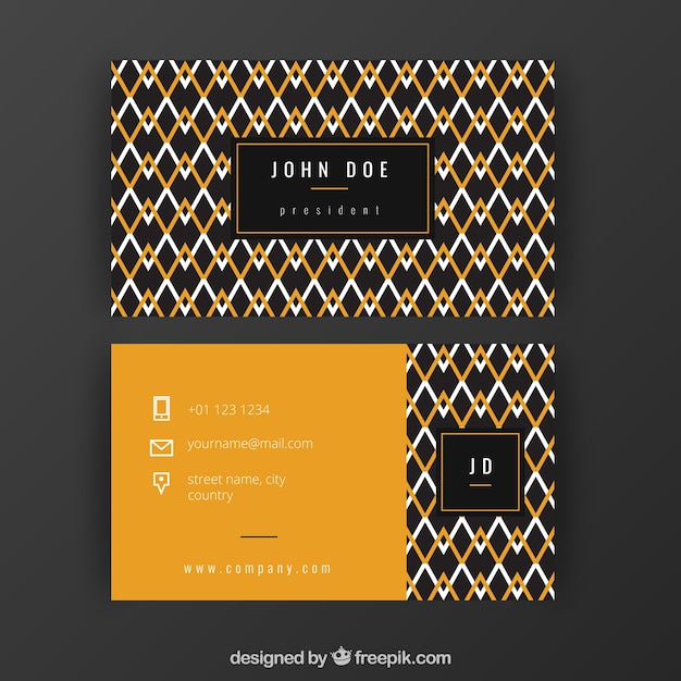 Building Style Abstract Business Card Template