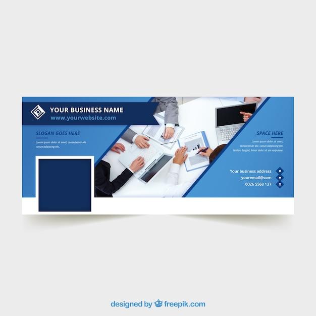 Абстрактная корпоративная обложка facebook Premium векторы