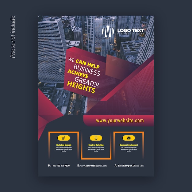 Abstract corporate flyer design template Premium Vector