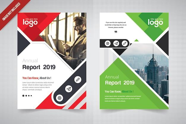 Abstract corporate flyer design Premium Vector