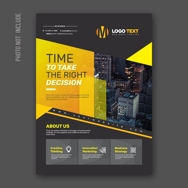 Abstract corporate flyer Premium Vector