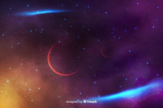 Abstract cosmic background with stars Free Vector