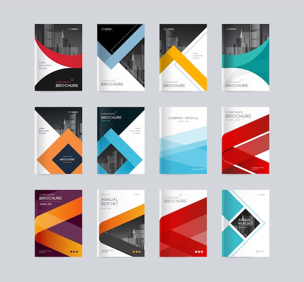 Premium Vector Abstract Cover Design Background Template For Company Profile