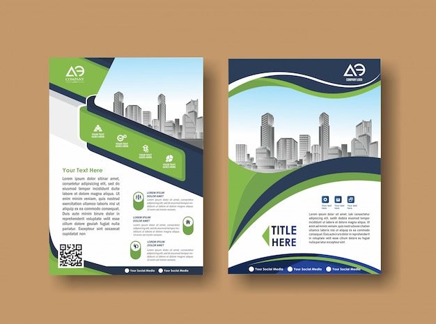 Abstract cover and layout for presentation and marketing Premium Vector