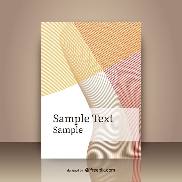 Abstract Cover Template Free Vector  Free Report Cover Page Template