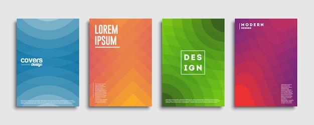 초록 커버 디자인 서식 파일. 기하학적 그라데이션 배경입니다. 장식 프리젠 테이션, 브로셔, 카탈로그, 포스터, 책, 잡지 배경 프리미엄 벡터