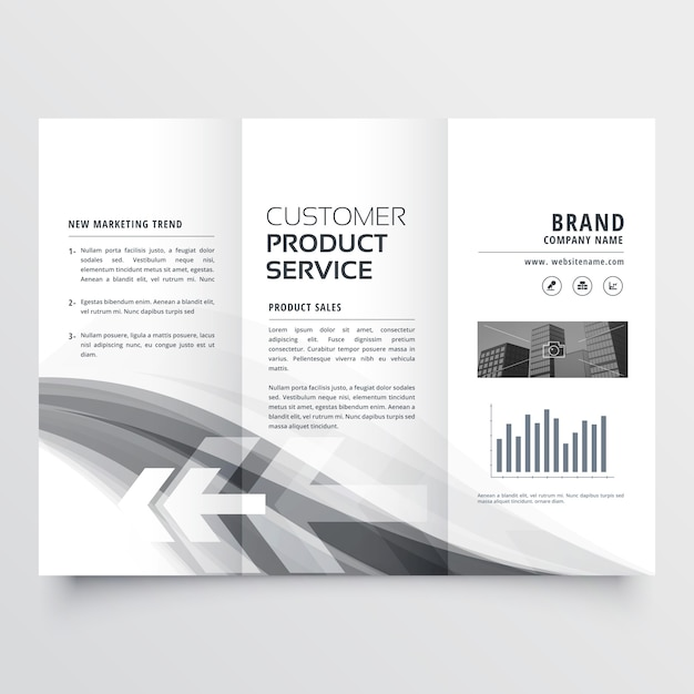 Abstract creative business brochure three fold Free Vector