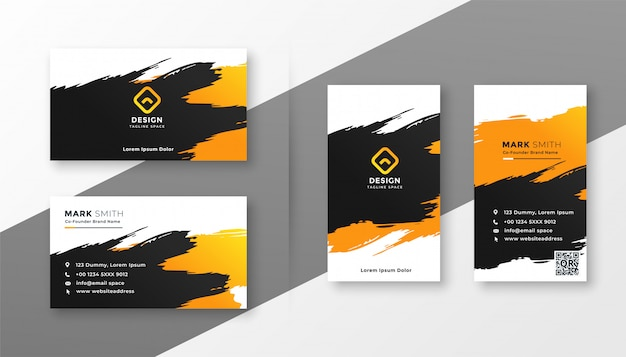 Abstract creative business card design Free Vector