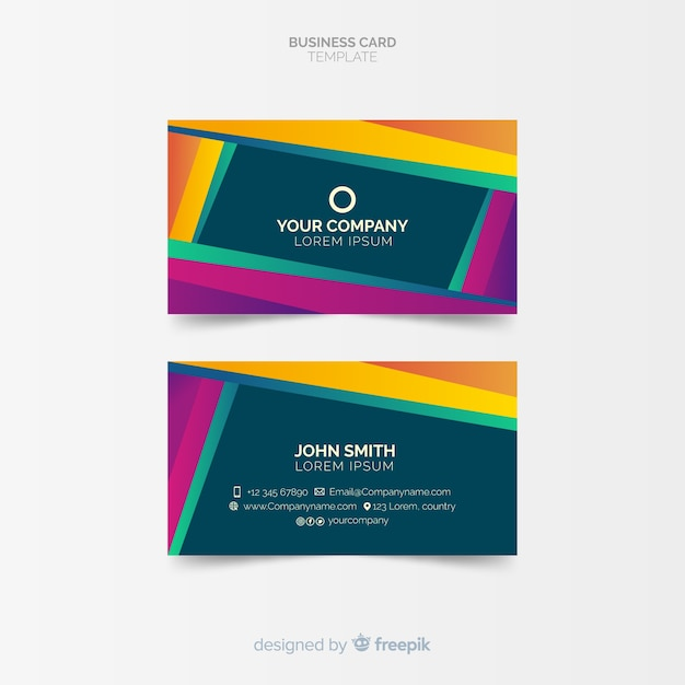 Abstract Creative Business Card Template Vector Free Download