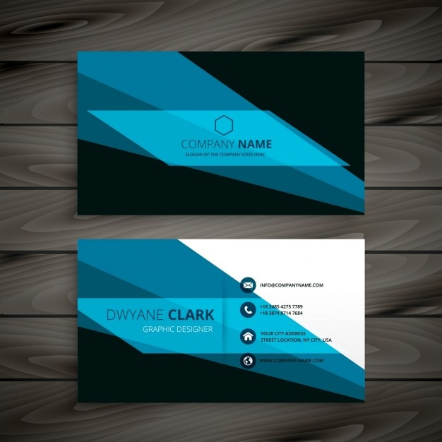 Abstract creative business card vector free download abstract creative business card free vector reheart Choice Image