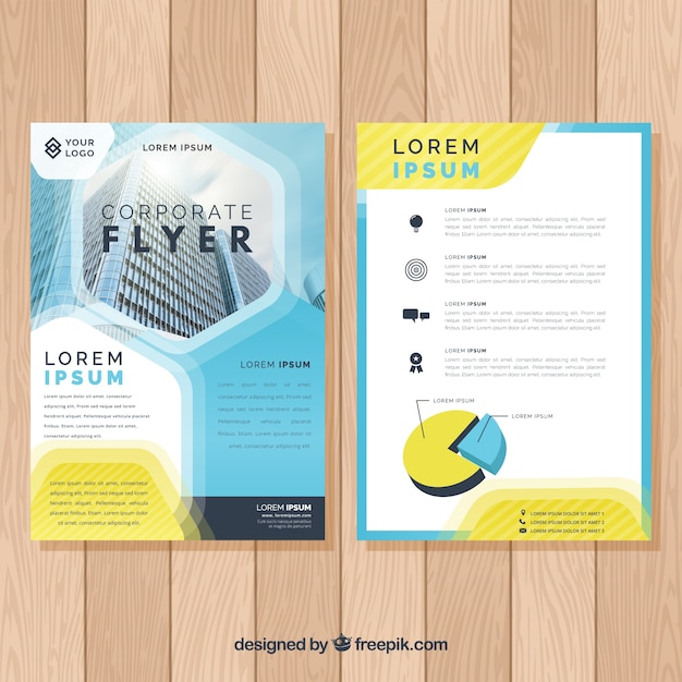 Abstract creative business flyer\ template