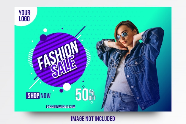 Abstract creative fashion sale offer banner template Premium Vector