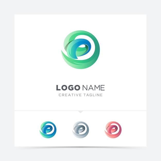 抽象的な創造的な手紙dロゴバリエーション Premiumベクター