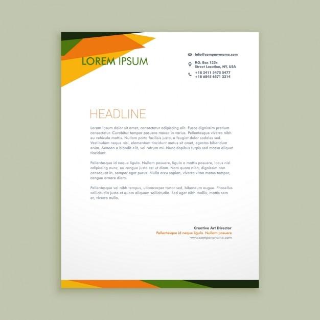 Abstract creative letterhead Free Vector