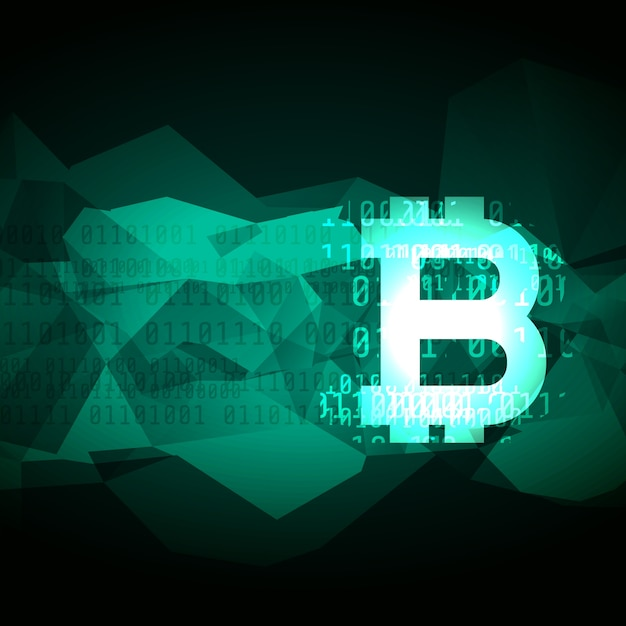 abstract cryptocurrency bitcoin symbol design Free Vector