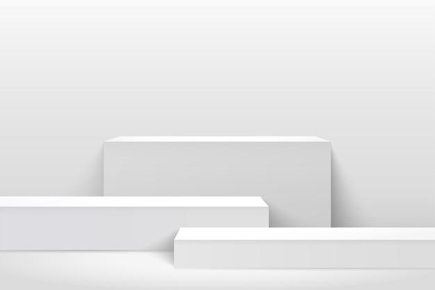 제품 프리젠 테이션을위한 추상 큐브 디스플레이 프리미엄 벡터