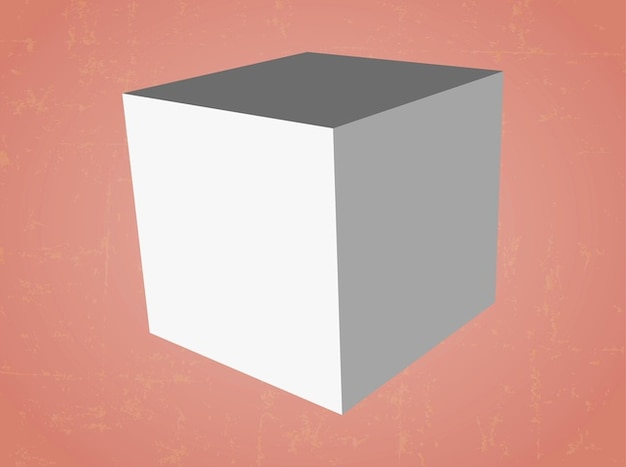 Abstract cube object logo vector