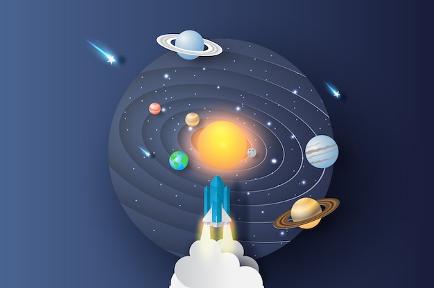 Abstract curve wave launch rocket startup Premium Vector