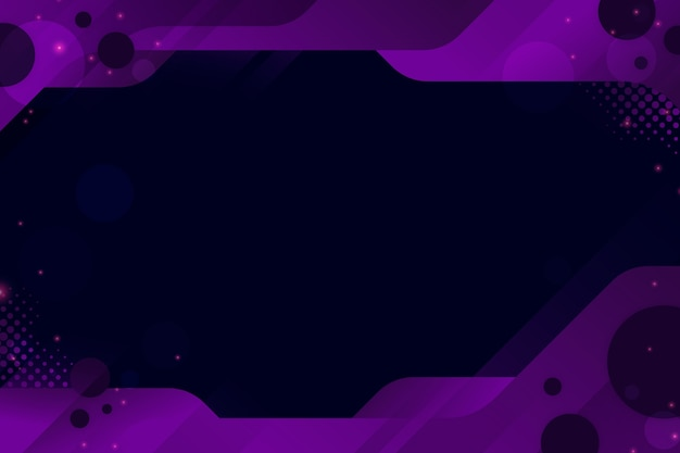 Abstract cyber background with geometric frame Free Vector