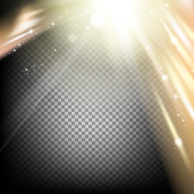 Абстрактный темный фон и золотое конфетти. Бесплатные векторы