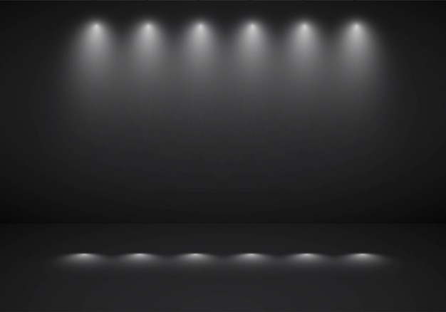 Free Vector Abstract Dark Black Background Studio Room With Sportlight