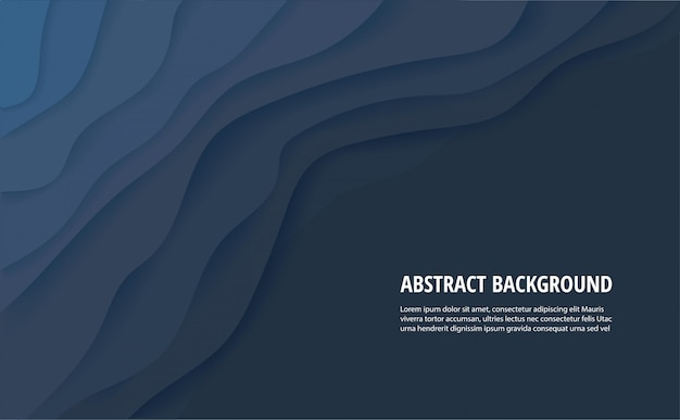 Abstract dark blue background Premium Vector