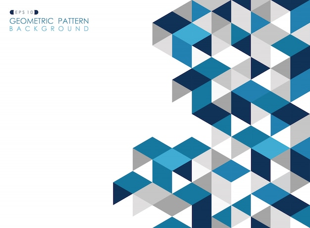 Abstract dark blue geometric background Premium Vector