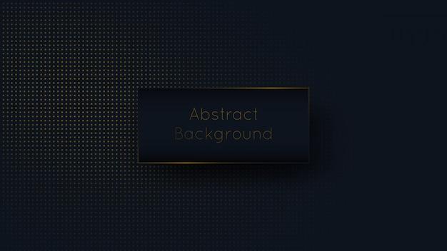 Abstract dark blue navy and golden dot luxury background Premium Vector