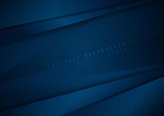 抽象的な暗い青色の紙の背景 Premiumベクター