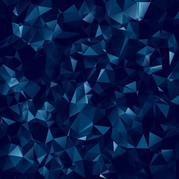 abstract dark blue polygonal background free vector
