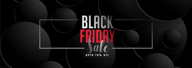 Abstract dark color black friday sale banner template Free Vector