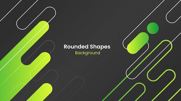 Абстрактный фон темно-серые и зеленые округлые формы Premium векторы