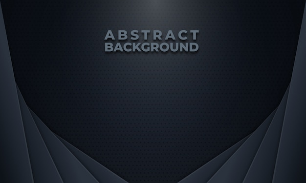 Abstract dark grey background with dots pattern Premium Vector