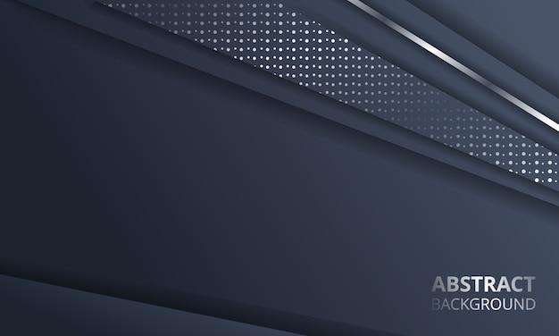 Abstract dark metallic silver frame layout tech background Premium Vector