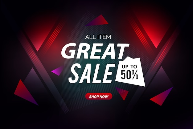Abstract dark sales background Free Vector