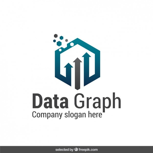 Abstract data graph logo Free Vector