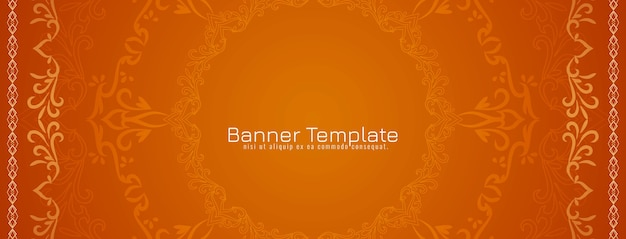 Abstract decorative ethnic design banner vector Free Vector