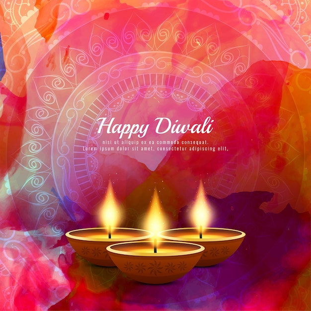 Abstract Decorative Happy Diwali Background Vector Free