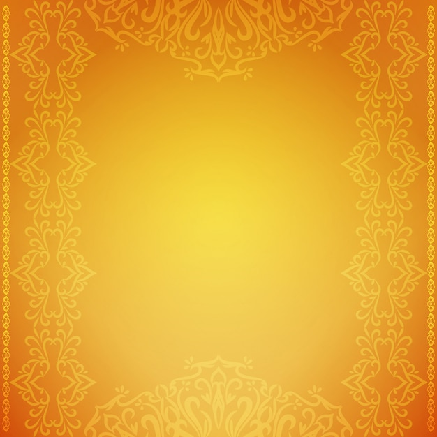 Abstract decorative luxury yellow background Free Vector