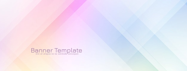 Abstract decorative modern banner design Free Vector