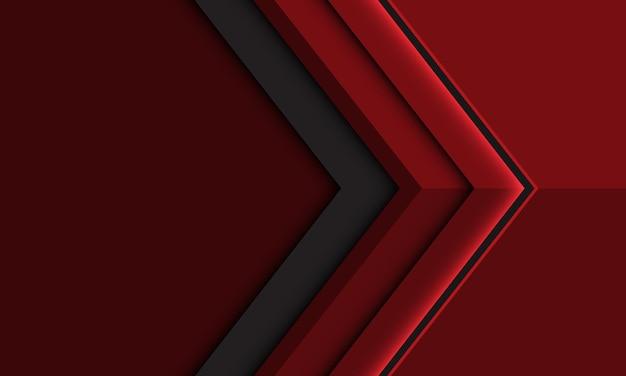 空白のスペースデザインモダンな未来的な背景イラストと抽象的な深紅灰色の矢印の方向。 Premiumベクター