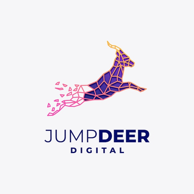 Abstract deer with modern polygon style Premium Vector