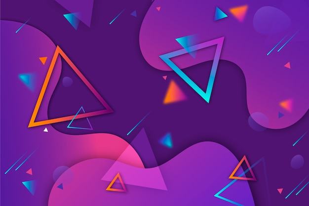 Abstract design background with triangles Free Vector