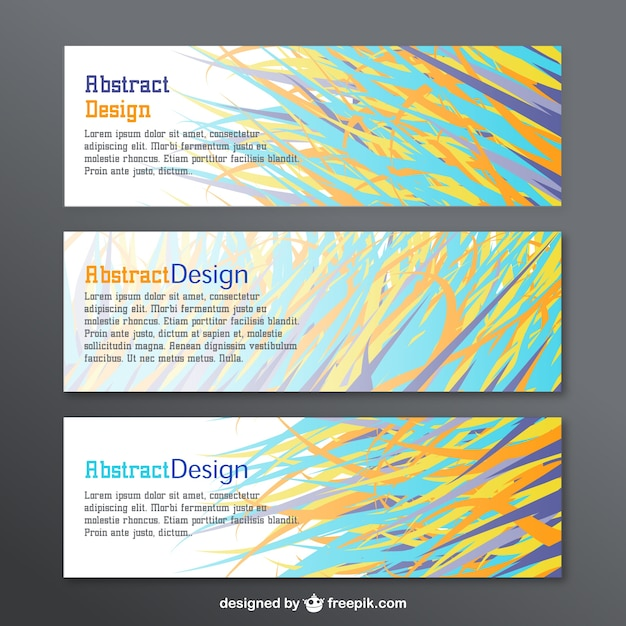 Abstract design banners set